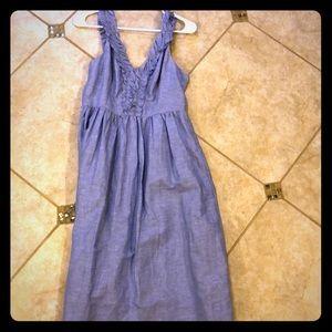 Banana Republic Blue Linen Dress